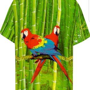 *5 items for $15* Mens Hawaiian Shirt with parrots